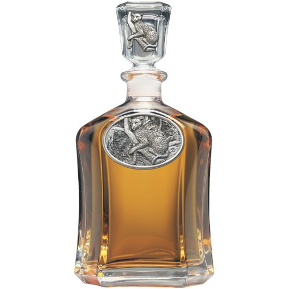 Leopard Capitol Decanter Boxed Set | Heritage Pewter | HPICPTB137 -2