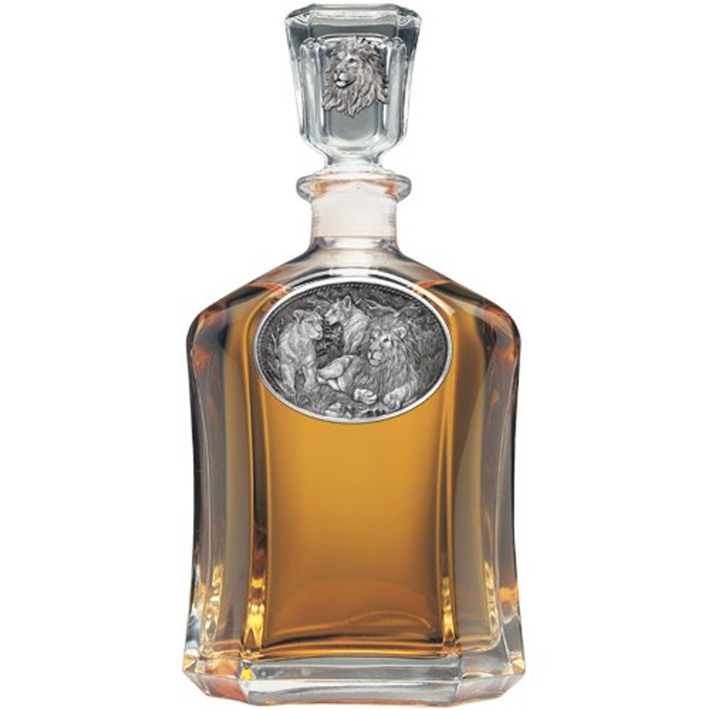 Lion Capitol Decanter Boxed Set | Heritage Pewter | HPICPTB119 -3