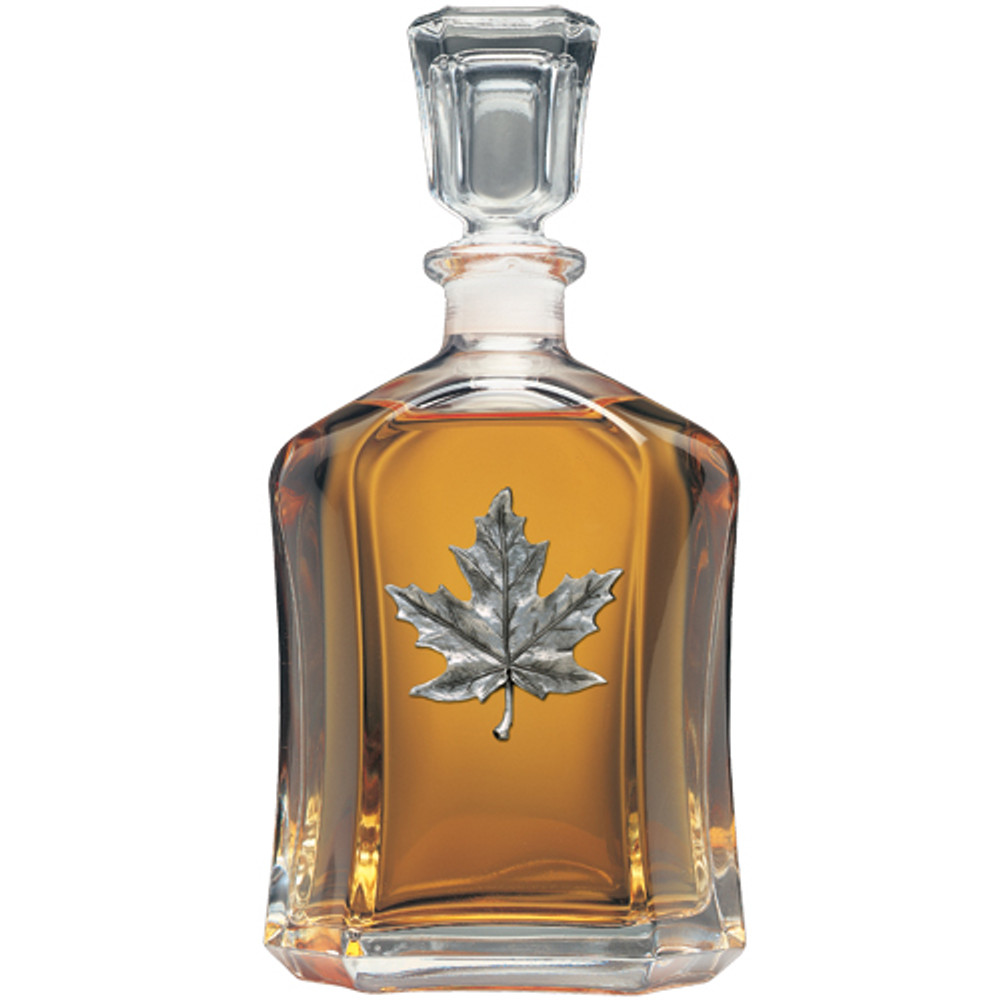 Maple Leaf Decanter Chest Set | Heritage Pewter | HPICPTC4111 -2