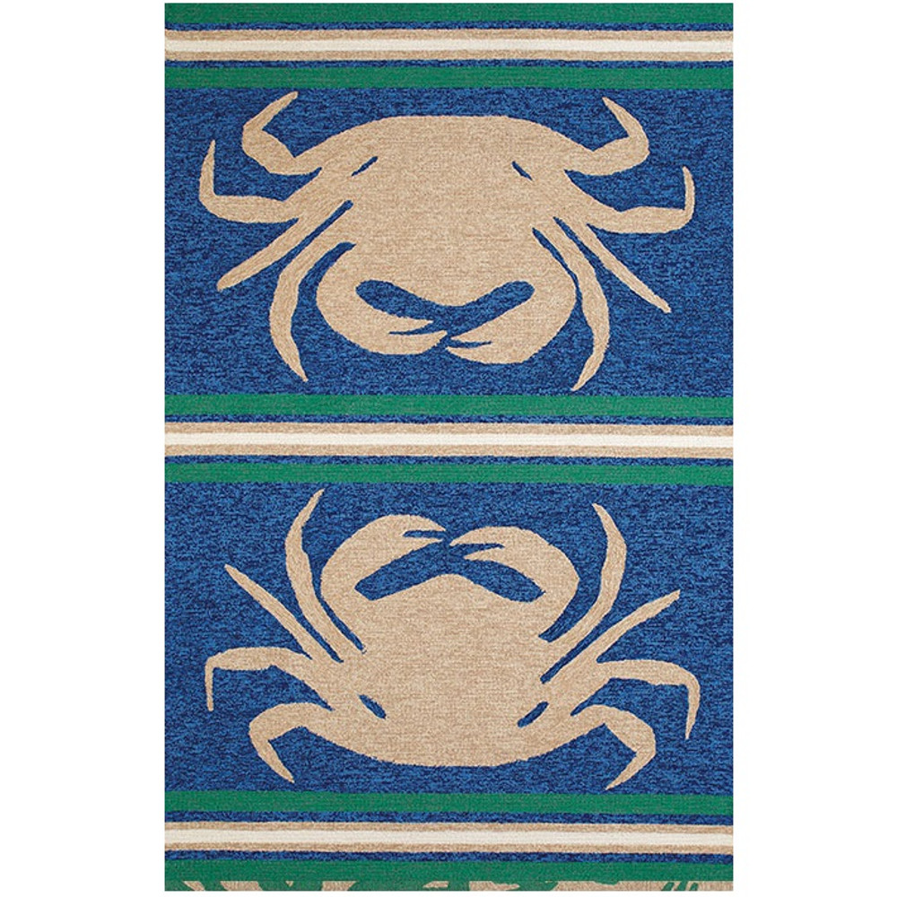 "Crab Indoor Outdoor Area Rug ""Crab Shack"" 