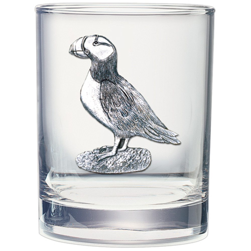 Puffin Double Old Fashioned Glass Set of 2 | Heritage Pewter | HPIDOF3570 -2