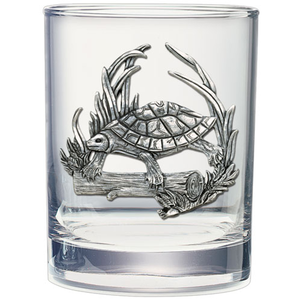 Turtle Double Old Fashioned Glass Set of 2 | Heritage Pewter | HPIDOF4115 -2