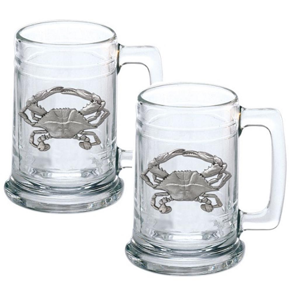 Blue Crab Beer Stein Set of 2 | Heritage Pewter | HPIST4266