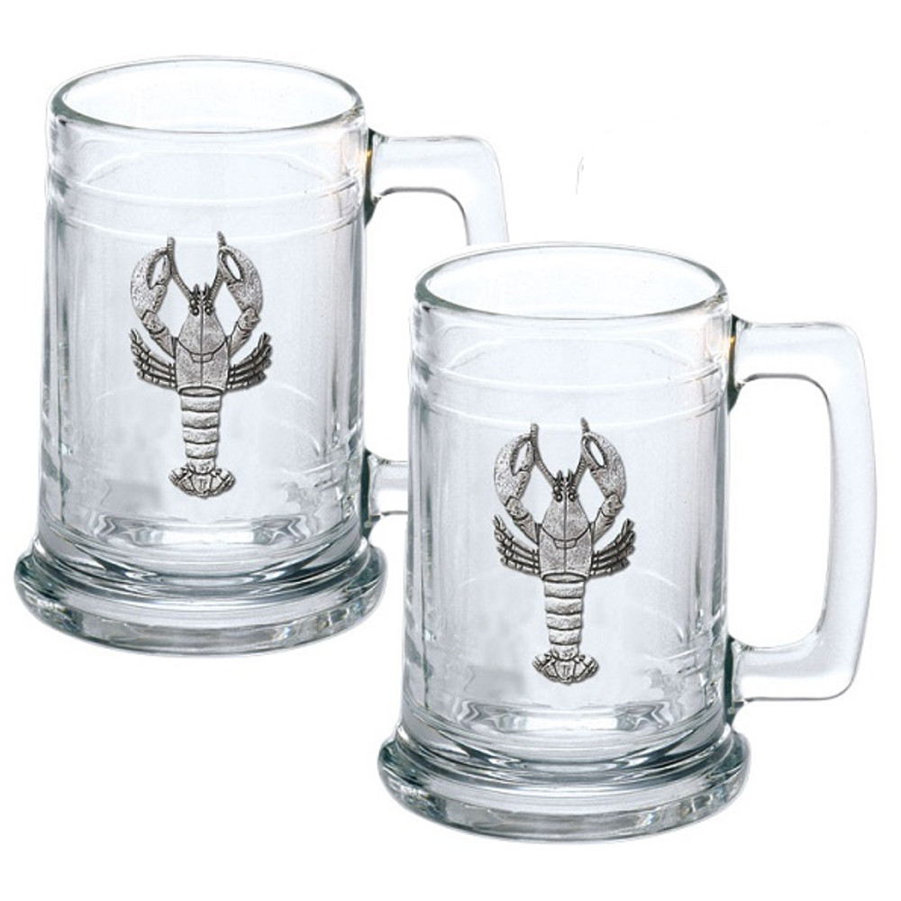 Lobster Beer Stein Set of 2 | Heritage Pewter | HPIST4068