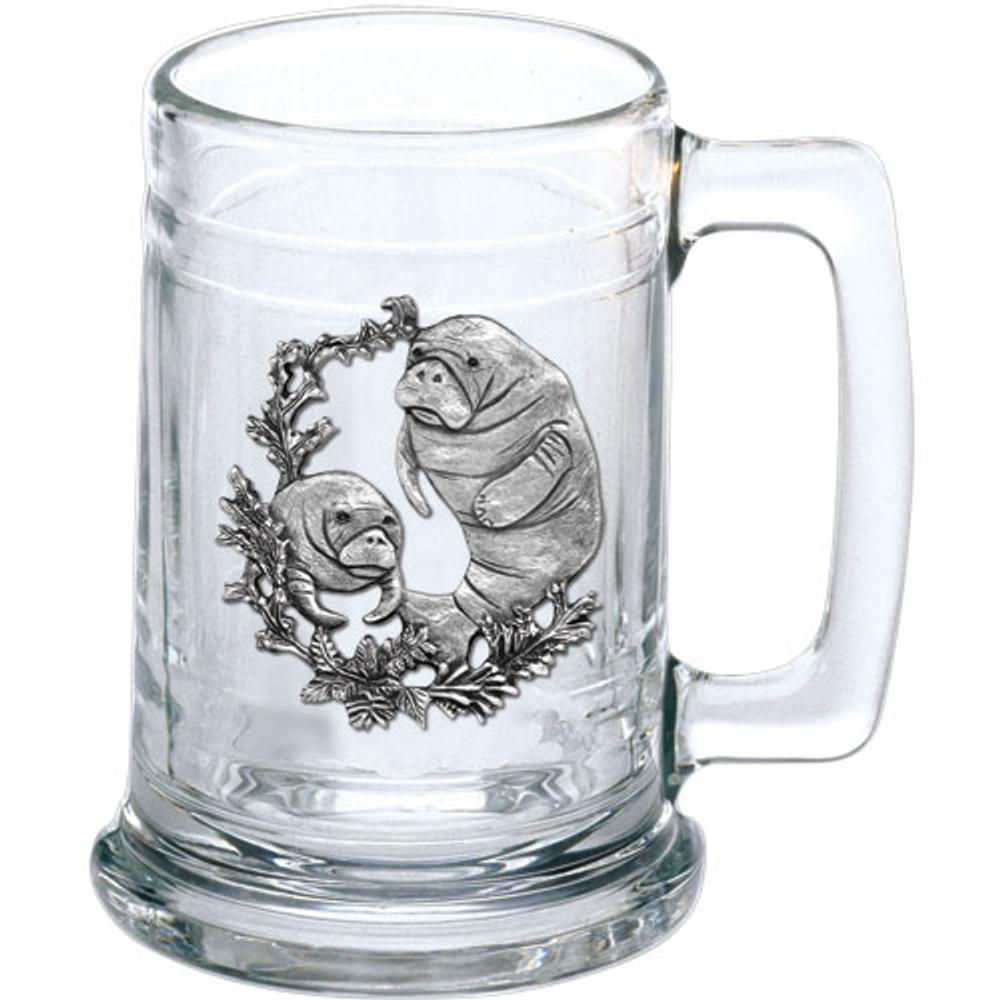 Manatee Beer Stein Set of 2   Heritage Pewter   HPIST4110 -2