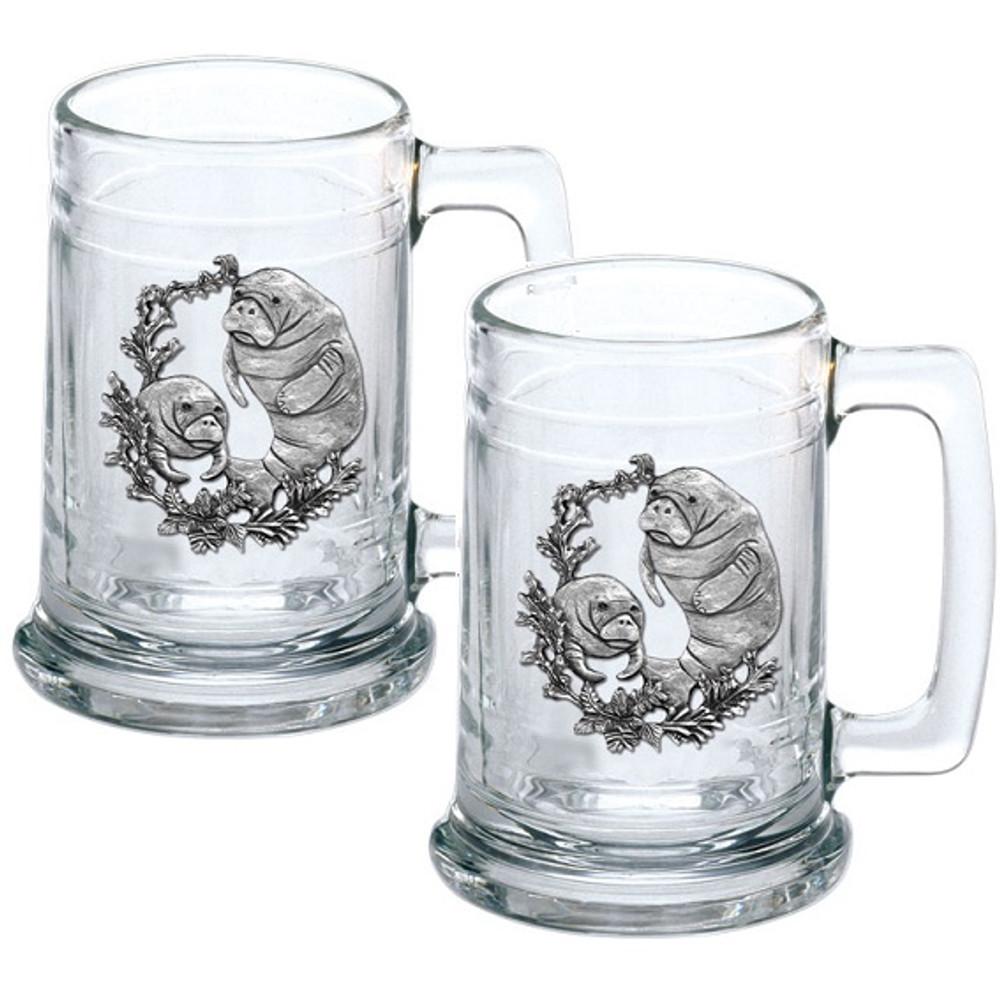 Manatee Beer Stein Set of 2   Heritage Pewter   HPIST4110