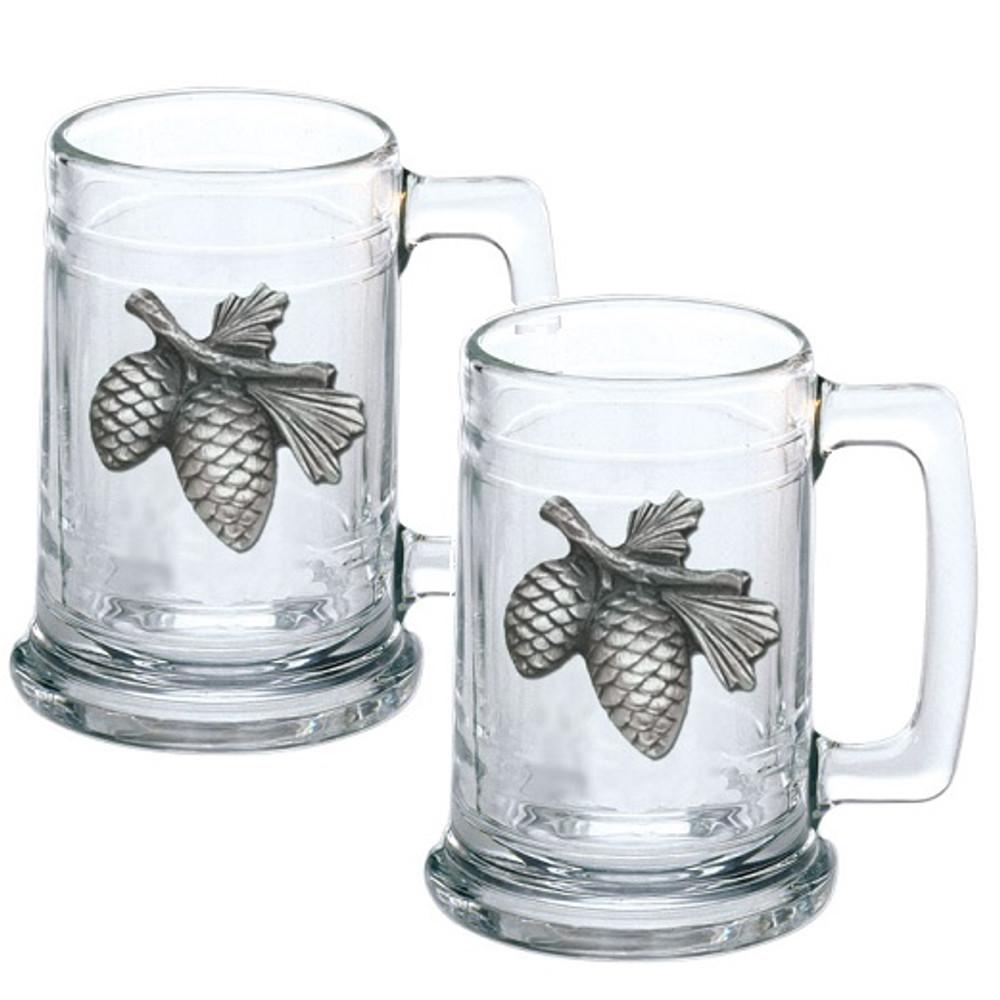 Pine Cone Beer Stein Set of 2 | Heritage Pewter | HPIST3022