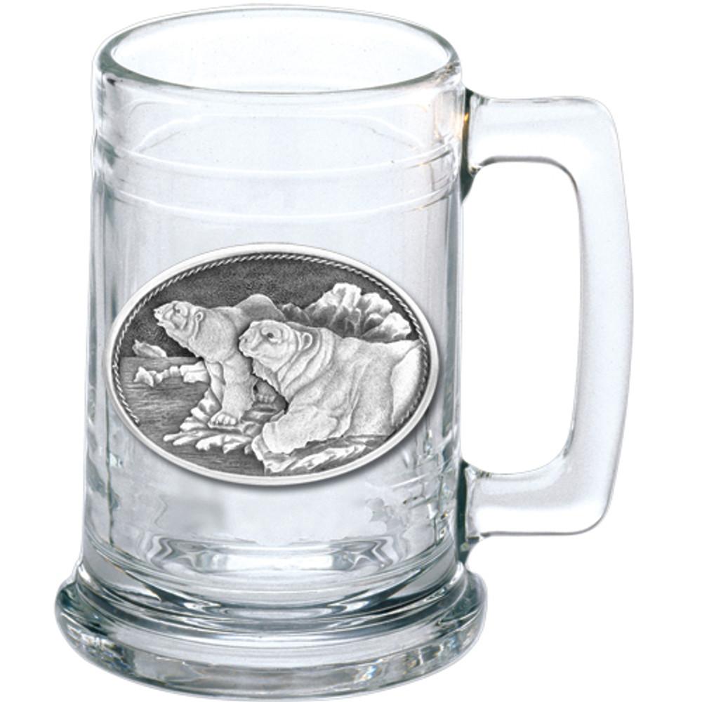 Polar Bear Beer Stein Set of 2 | Heritage Pewter | HPIST112 -2