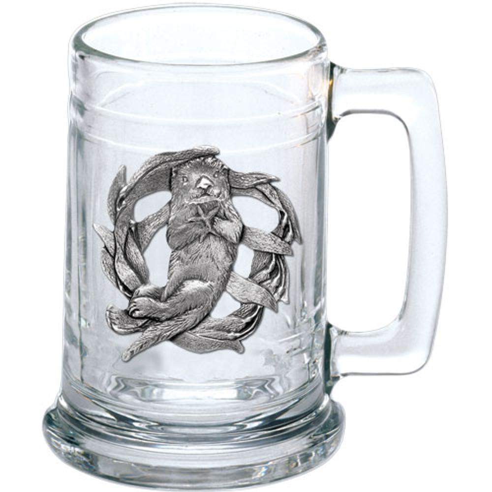 Sea Otter Beer Stein Set of 2   Heritage Pewter   HPIST4187 -2