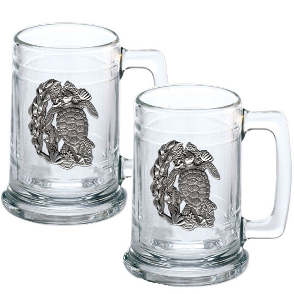 Sea Turtle Beer Stein Set of 2 | Heritage Pewter | HPIST4146