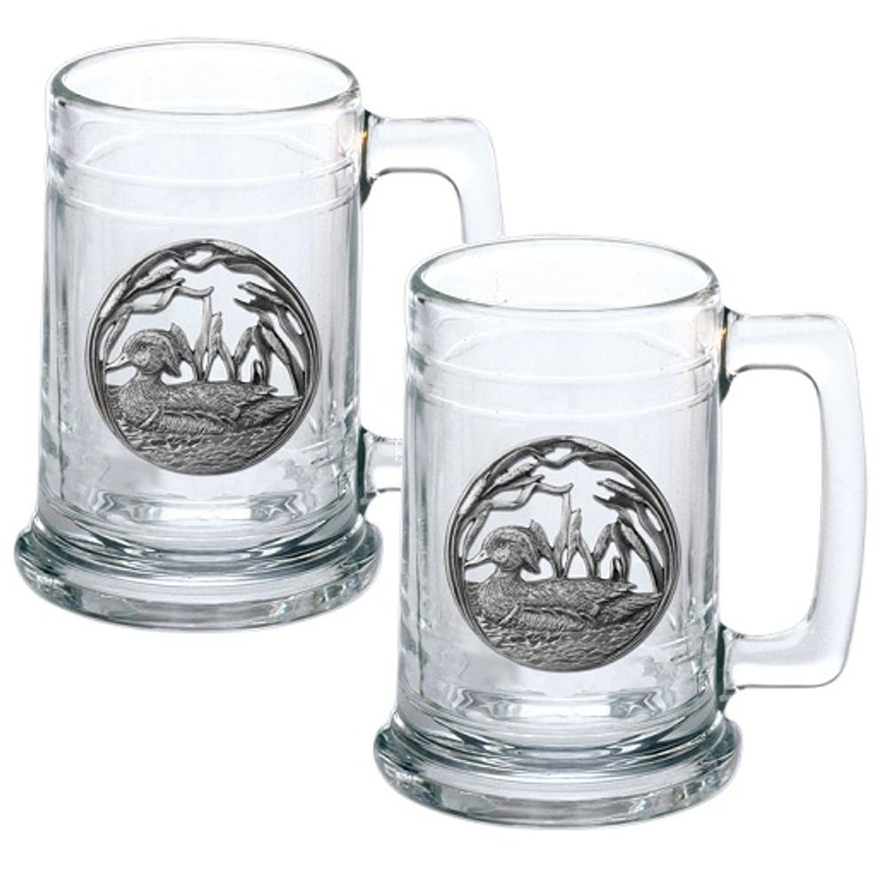 Wood Duck Beer Stein Set of 2 | Heritage Pewter | HPIST4085