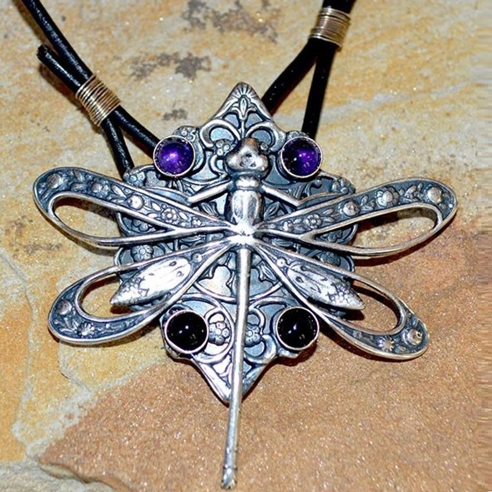 Dragonfly Filigree Pendant Necklace   Elaine Coyne Jewelry   ASV79PD