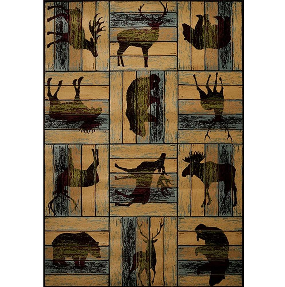 Deer Elk Moose Area Rug Lodge D'eco   United Weavers   511-32475