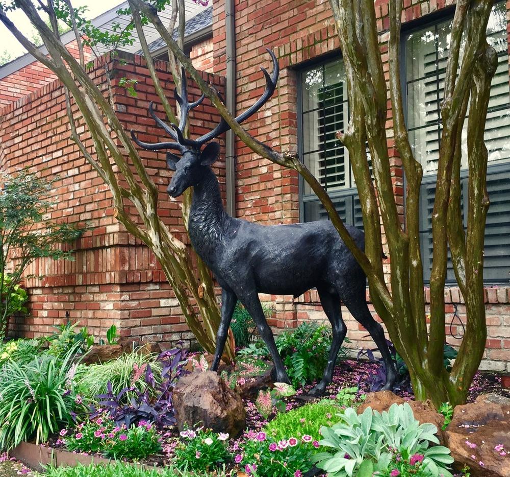 Deer Buck and Doe Life Size Bronze Outdoor Statue | Metropolitan Galleries | MGISRBSRB15055-56 -2
