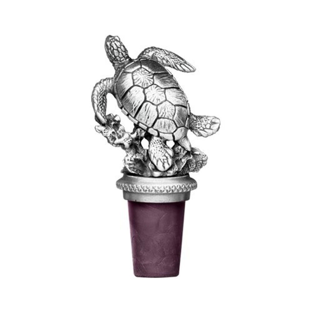 Sea Turtle Bottle Stopper | Heritage Pewter | BS8516