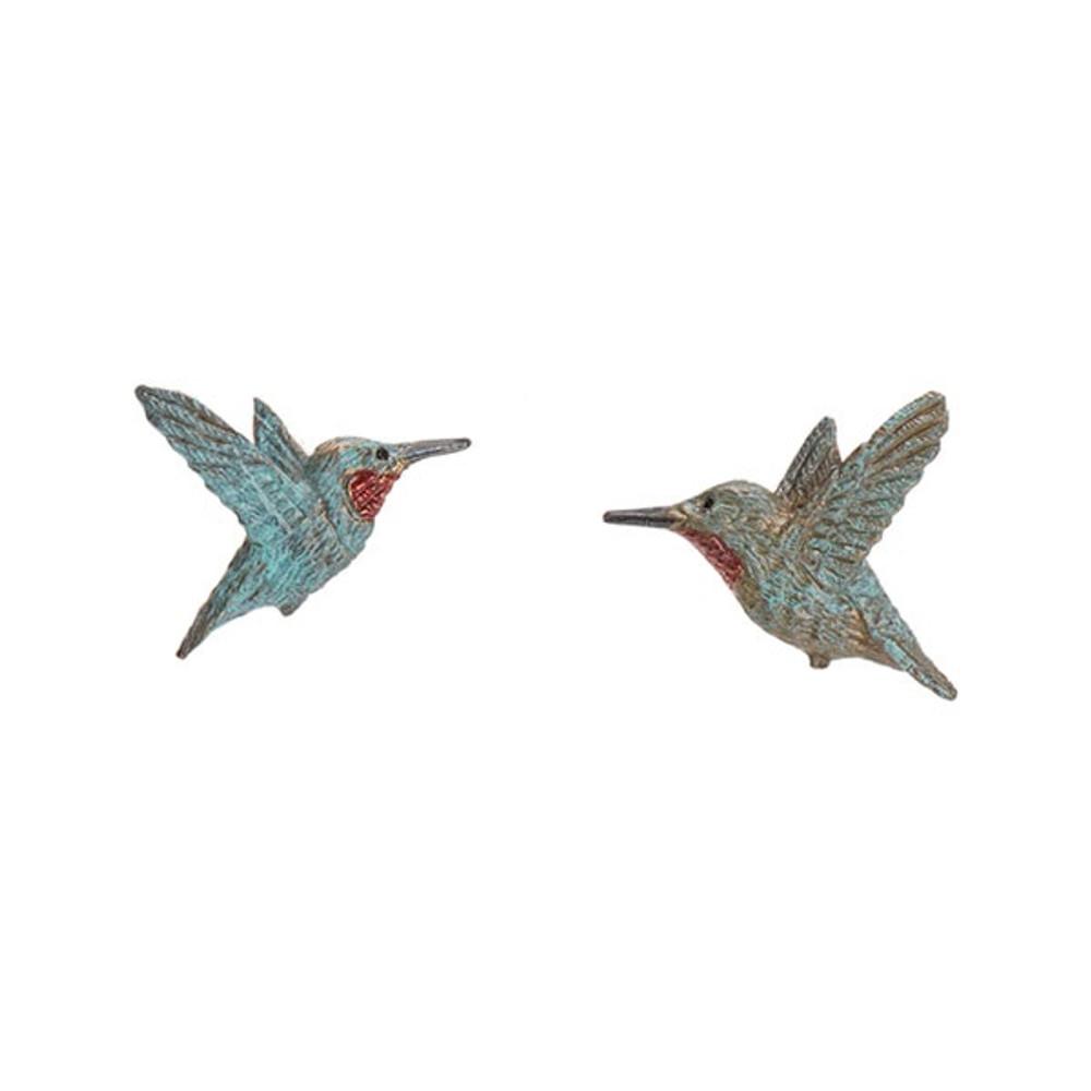 Rufous Hummingbird Post Earrings | Cavin Richie Jewelry | KBE52post