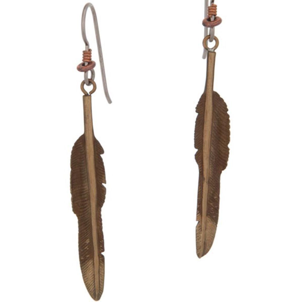 Eagle Feather Earrings | Cavin Richie Jewelry | KBE20FH