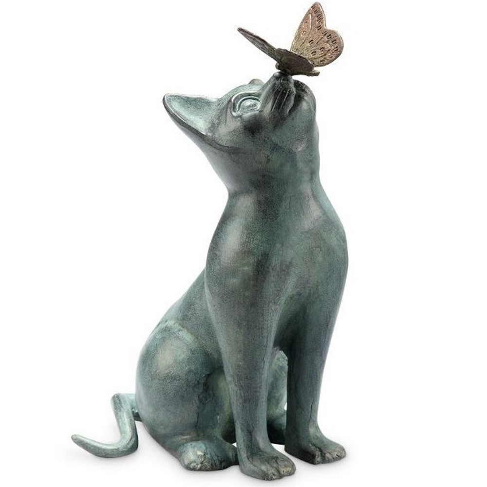 Curiosity Cat Garden Sculpture | 33847 | SPI Home -2