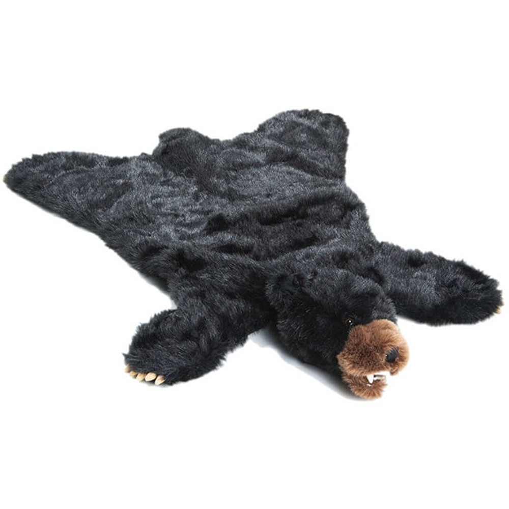 Black Bear Large Plush Rug | Carstens | BR101