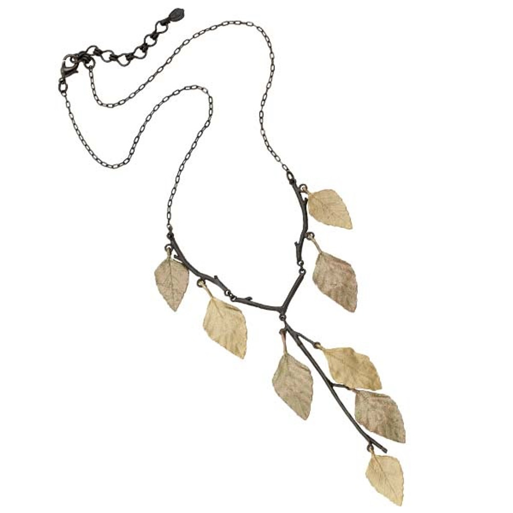 Autumn Birch Y Pendant Necklace | Michael Michaud Jewelry | 9058GMG