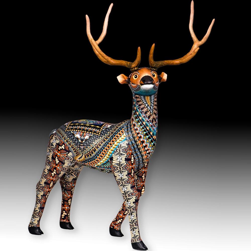 Elk Mama Figurine   FimoCreations   FELKM