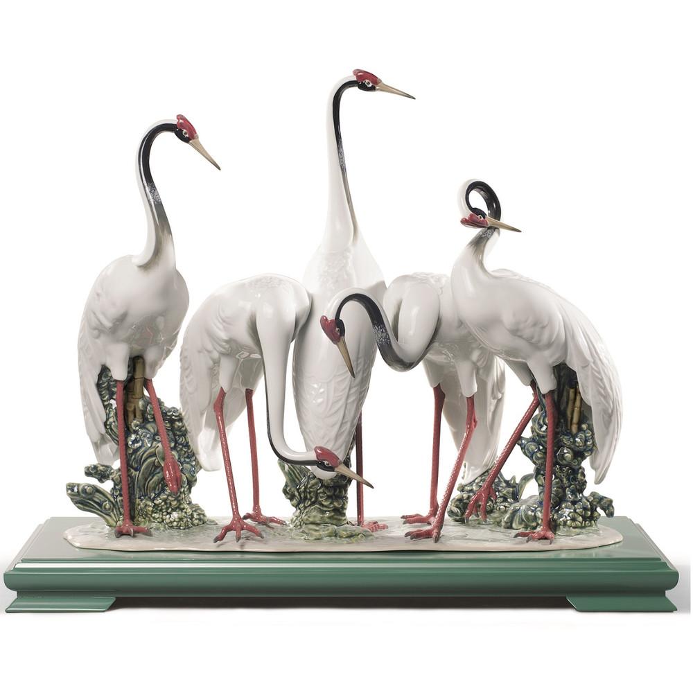 Flock Of Cranes Porcelain Figurine | Lladro | 1008697