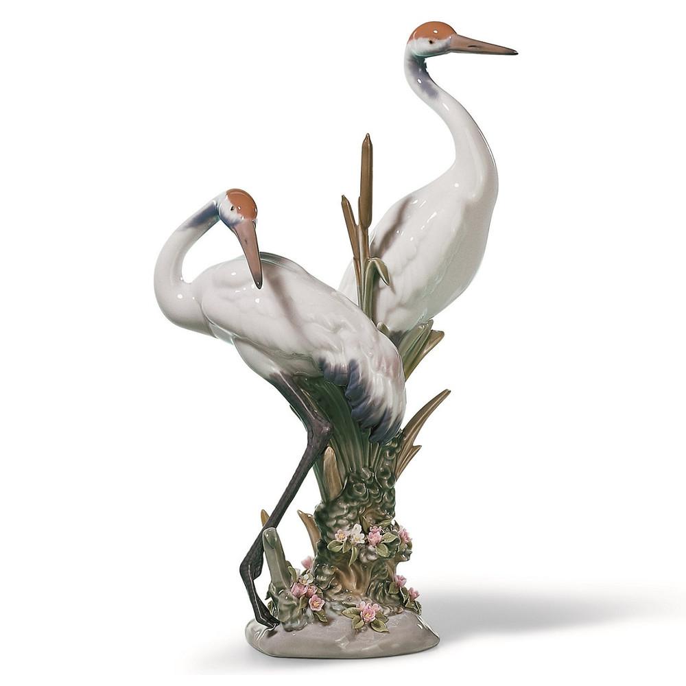 Courting Cranes Porcelain Figurine | Lladro | 1001611