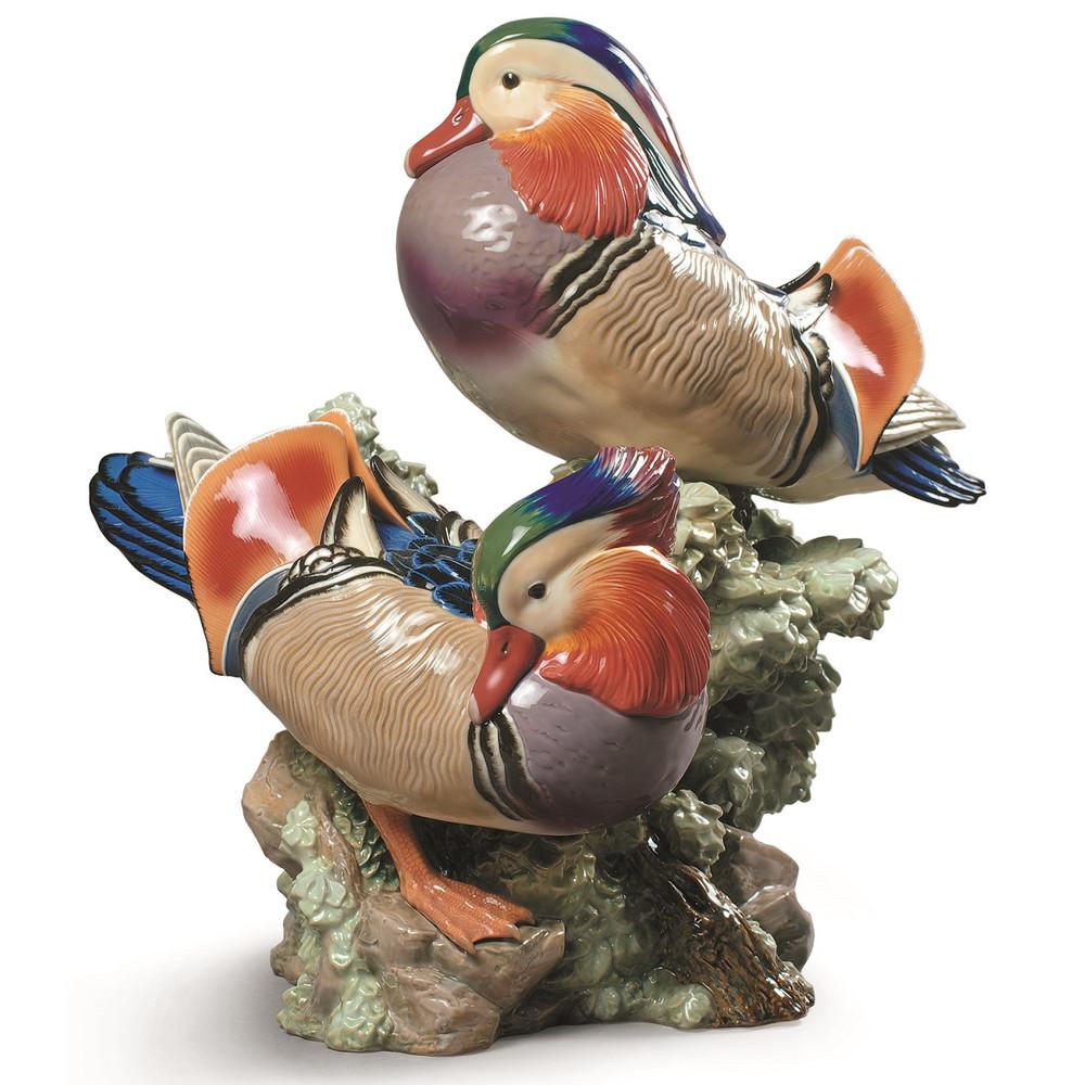 Mandarin Ducks Porcelain Figurine   Lladro   1001979