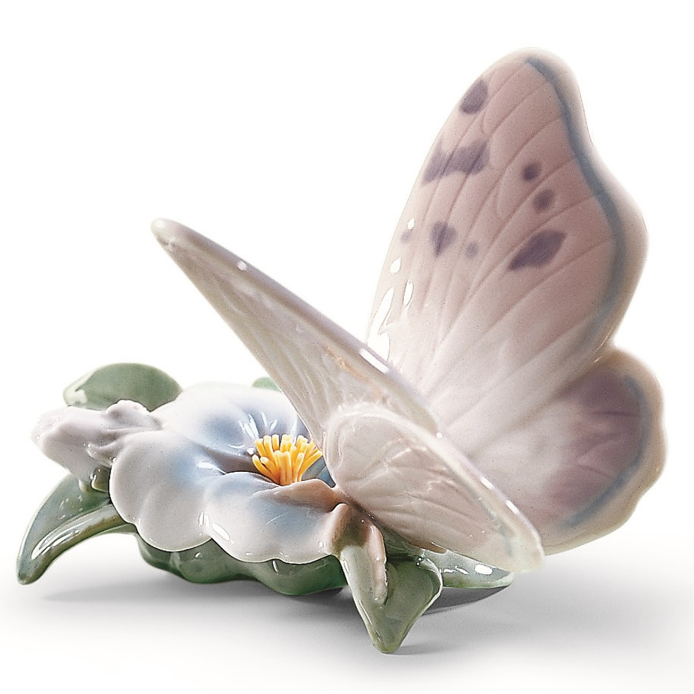 """Butterfly Porcelain Figurine """" Refreshing Pause """" 