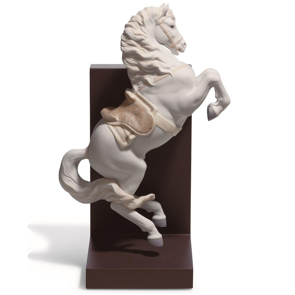 Horse On Courbette Porcelain Bookend   Lladro   LLA01018254