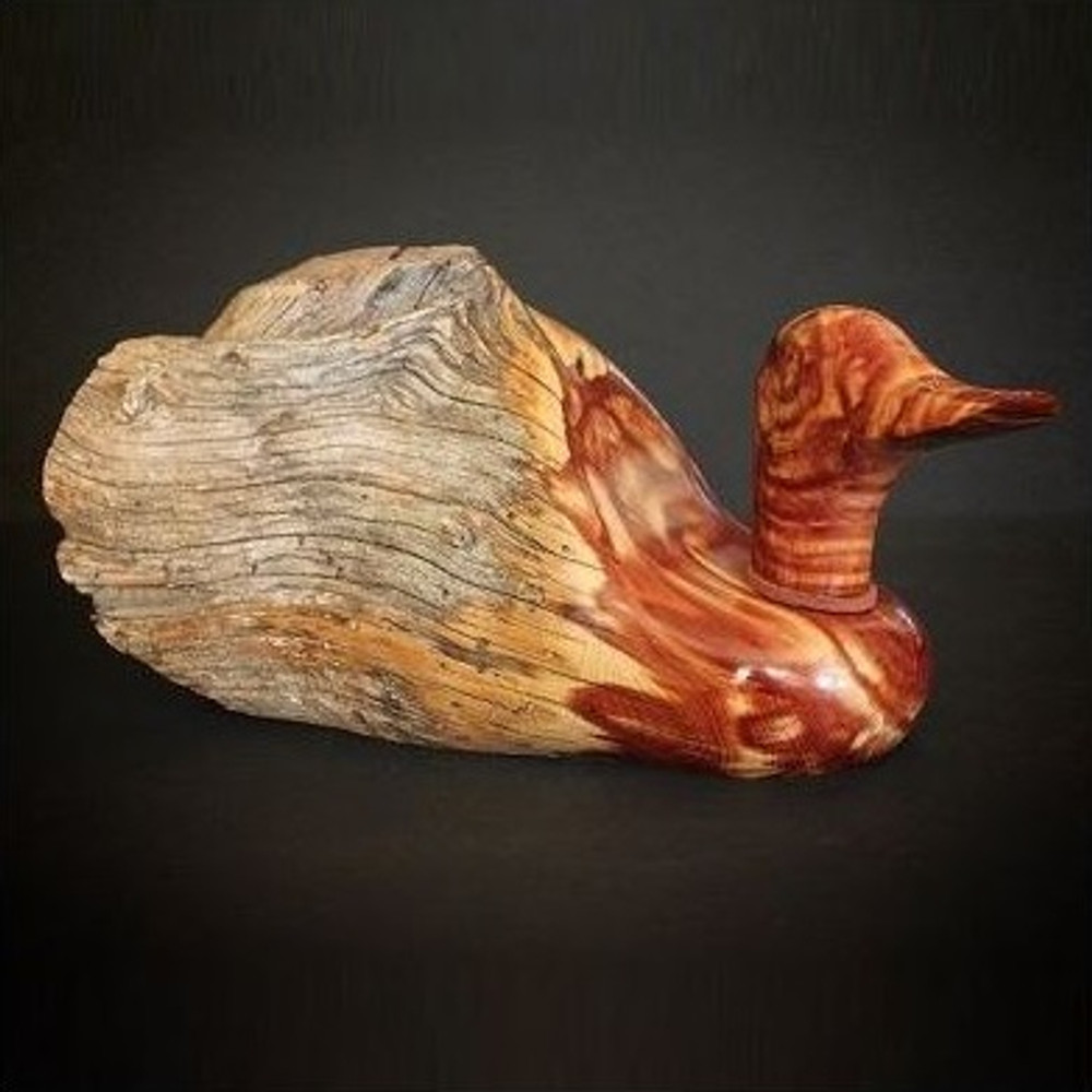 Fence Post Wood Duck Sculpture Large | Rocky Mountain Rustic | RMRxlg -5