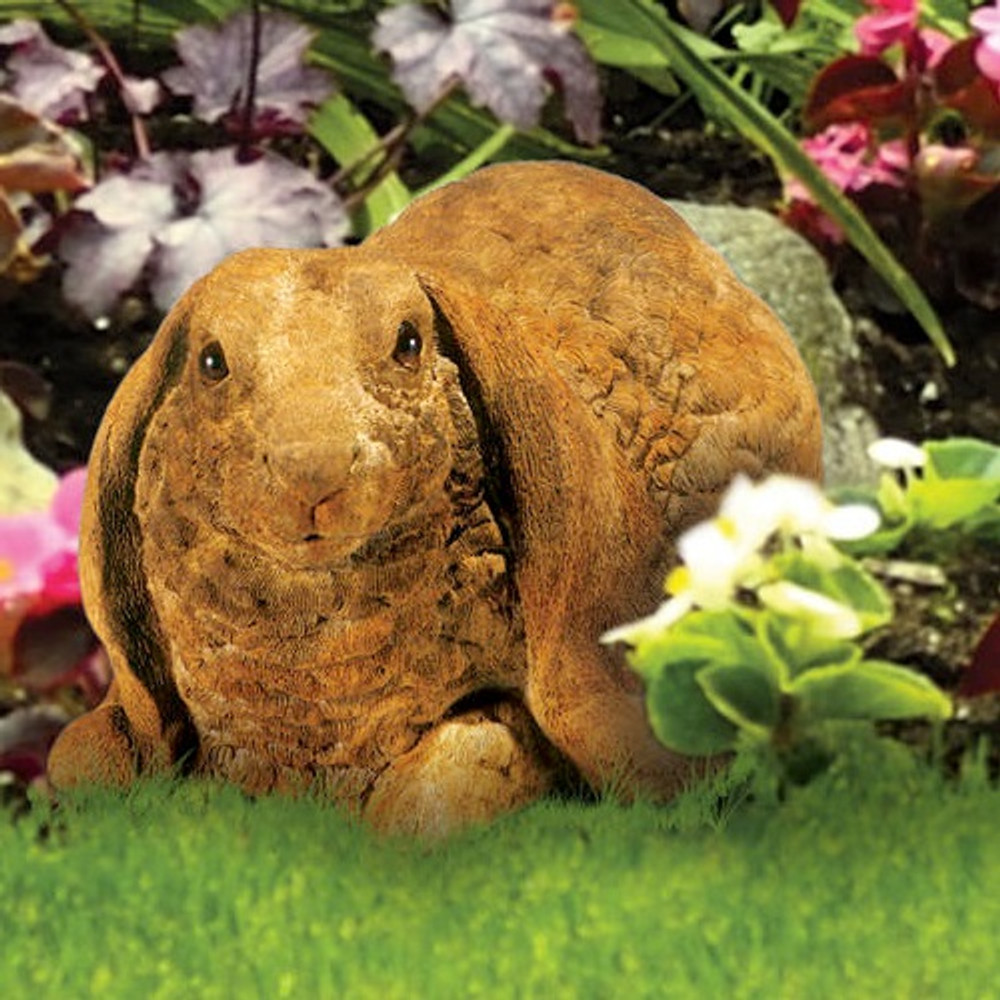 Lop-eared Rabbit Outdoor Concrete Garden Statue | Stonecasters | HES2607