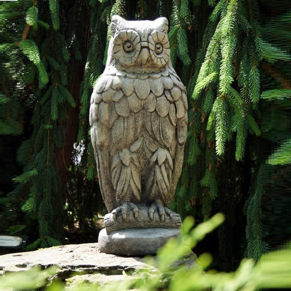 Owl Outdoor Concrete Garden Statue | Stonecasters | HES2570