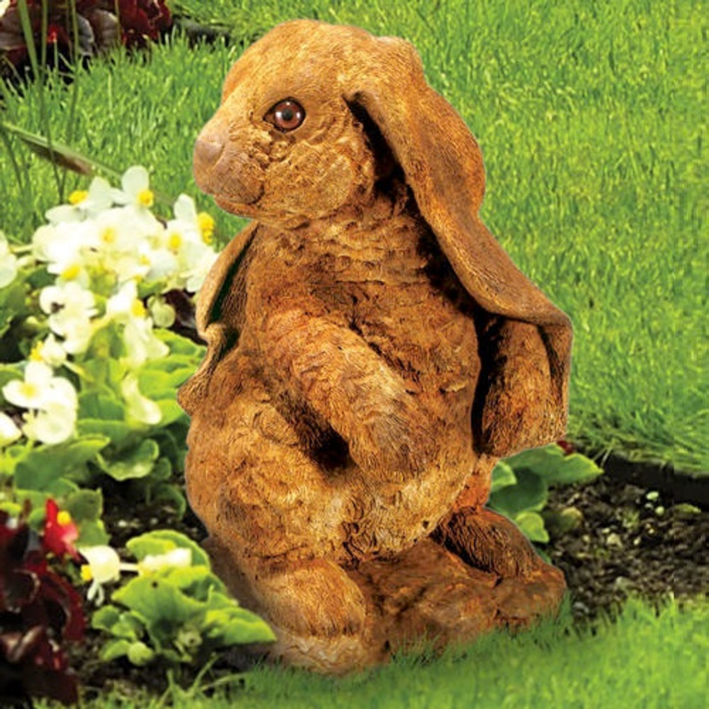 Standing Lop-eared Rabbit Outdoor Concrete Garden Statue | Stonecasters | HES2604