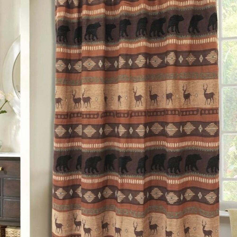 Deer and Bear Autumn Trails Shower Curtain | Carstens  | JB4146