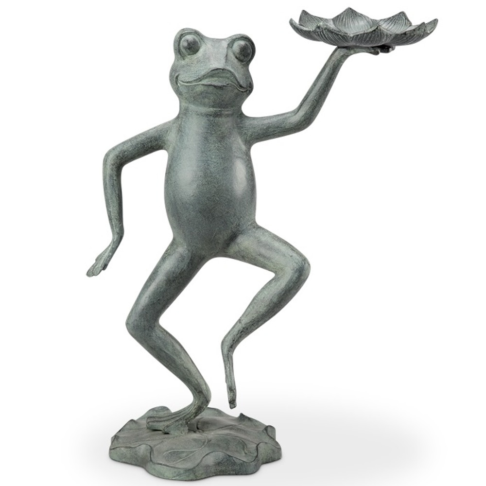 Dancing Frog With Lily Pad Bird Feeder | 34552 -2