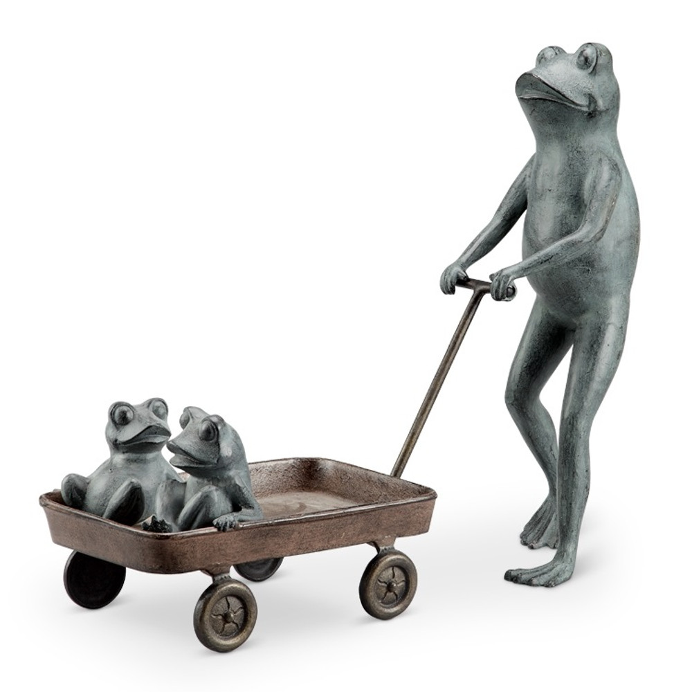 Frog Family with Wagon Planter | 34550 -2