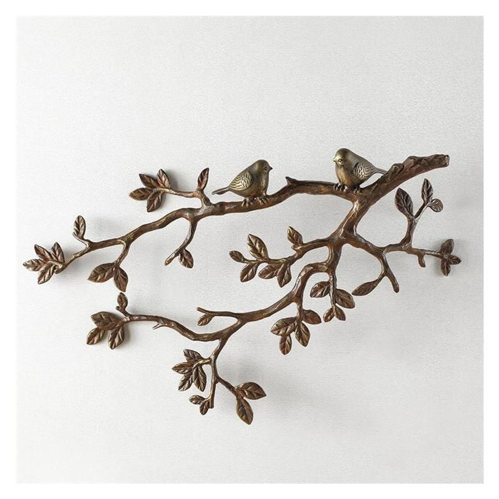 Little Lovebirds on Branch Wall Plaque | 34037 | SPI Home -3