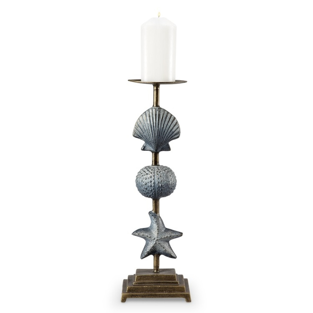 Shell and Starfish Pillar Candle Holder | 34536
