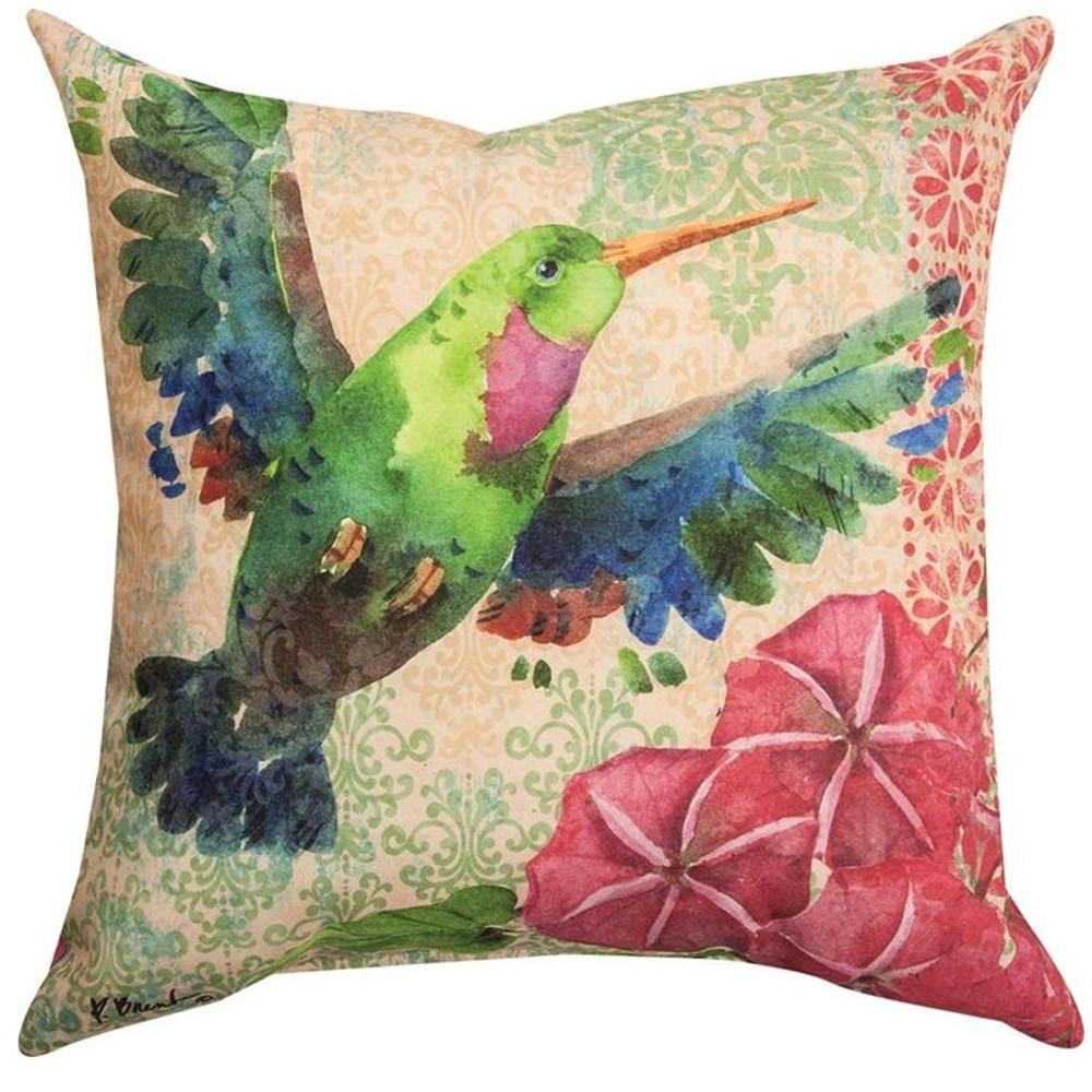 Zealous Hummingbird Indoor/Outdoor Pillow | Manual Woodworkers | SLZLHB