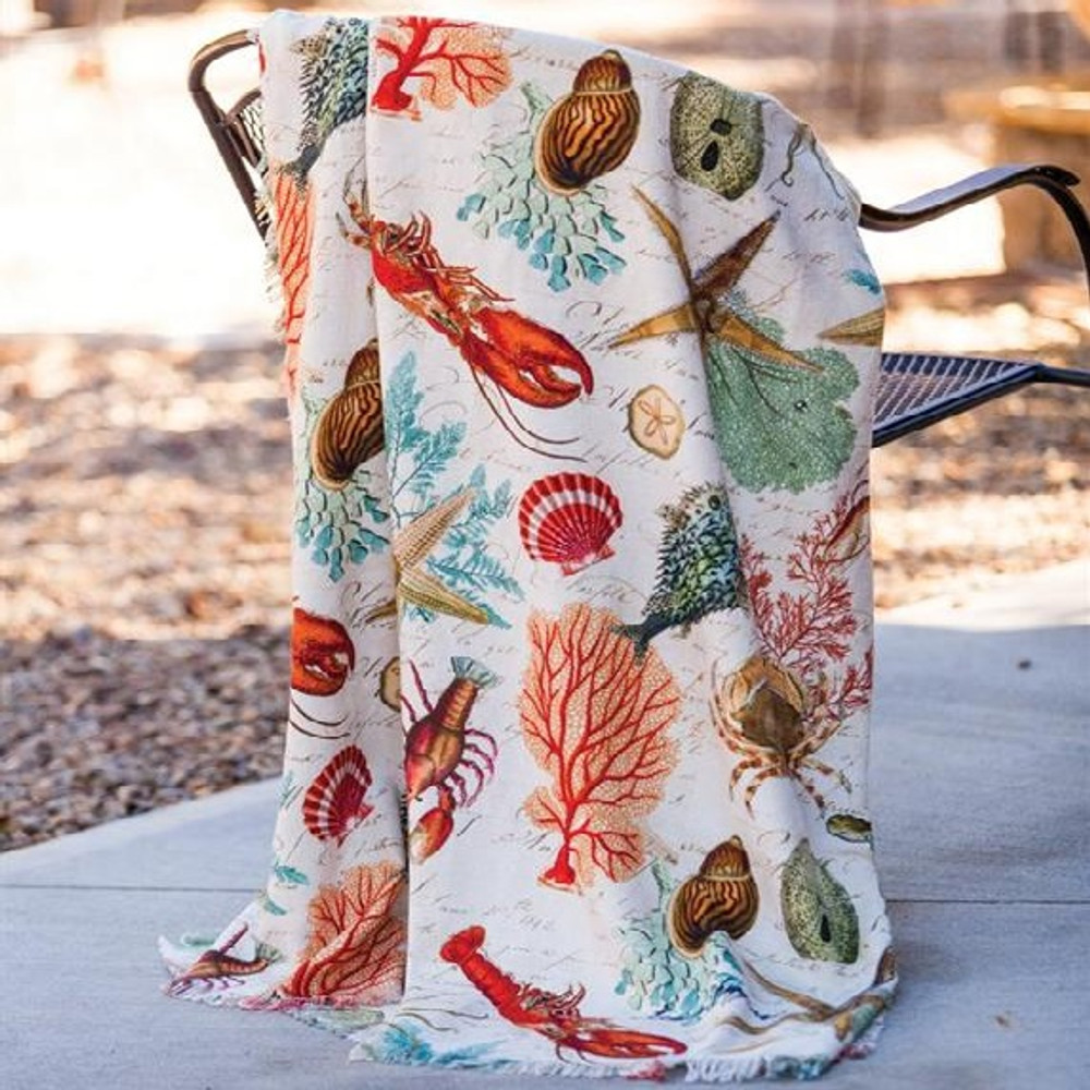 Sea Life Poly Throw Blanket | Manual Woodworkers | SASELF