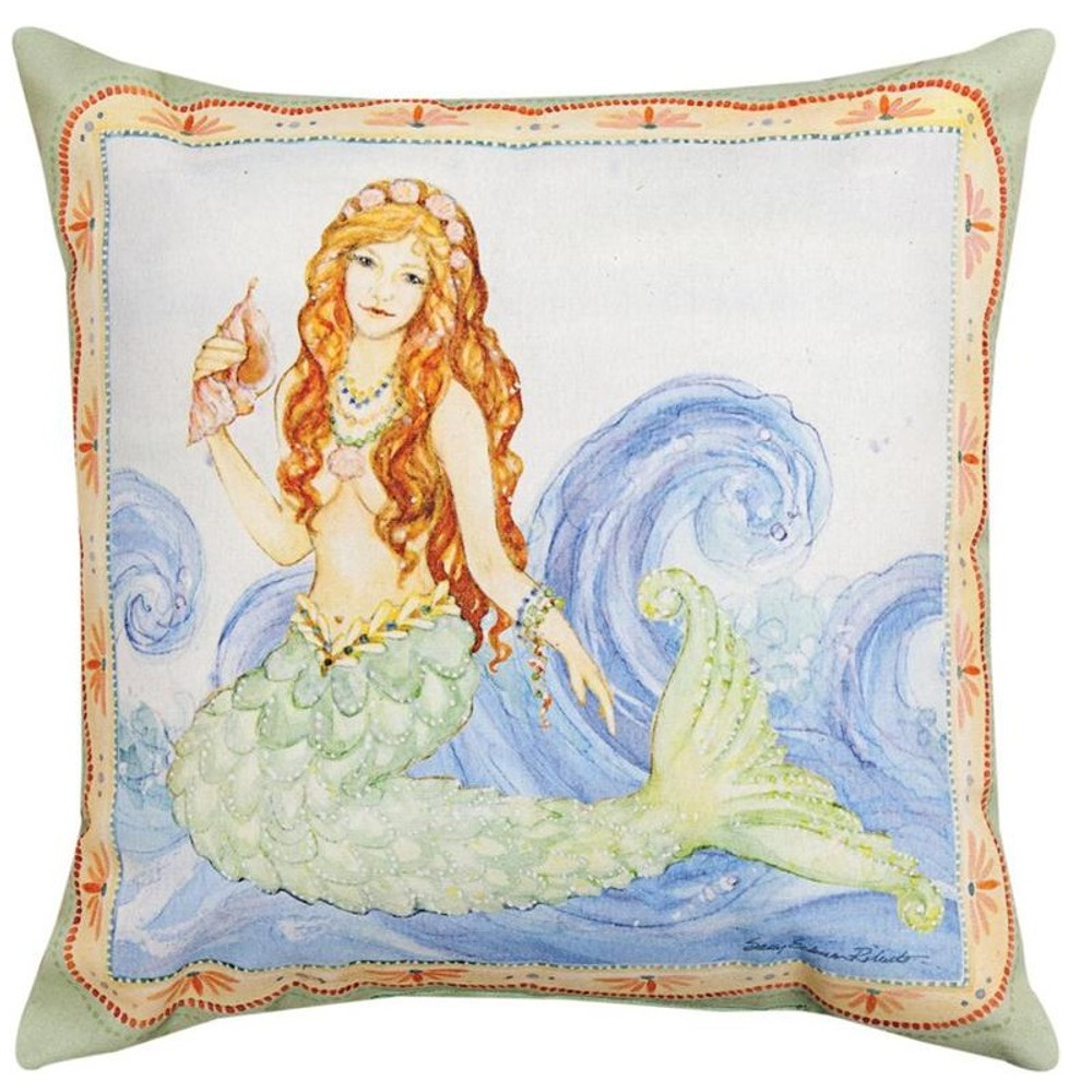 Mermaid Indoor/Outdoor Pillow | Manual Woodworkers | SLMRMD