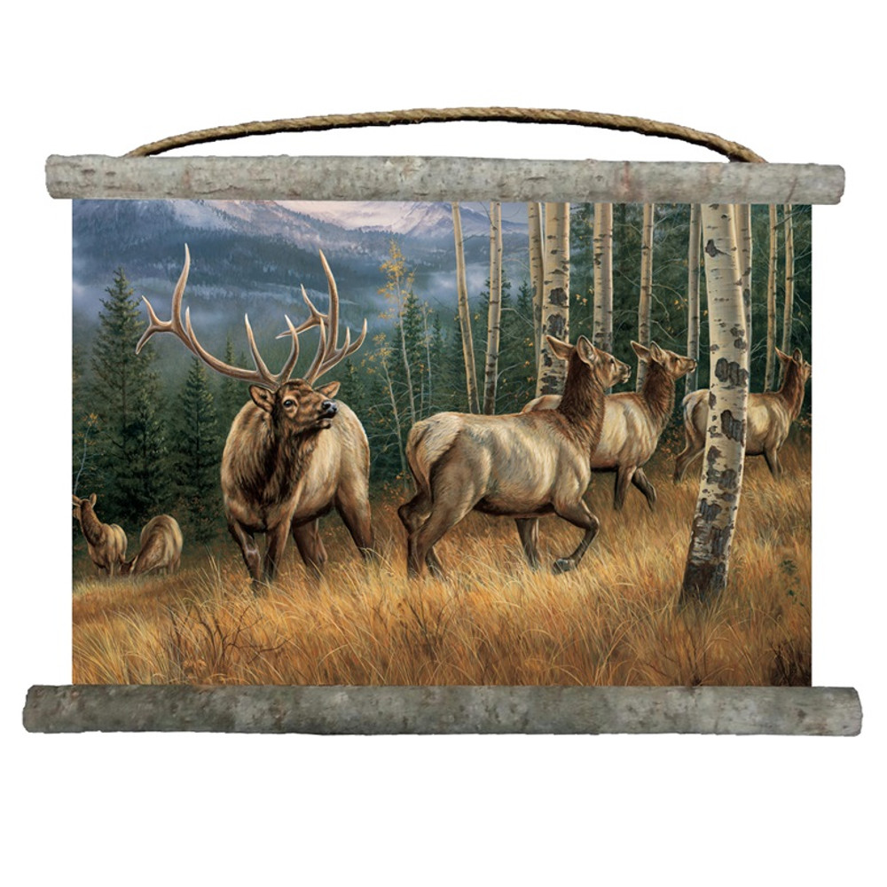 "Elk Canvas Wall Hanging ""Back Country"" 