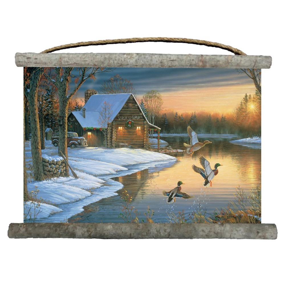 "Mallards Canvas Wall Hanging ""Back Water"" | Wood Graphixs | WCBWM2518"