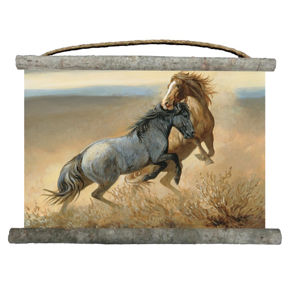 """Horse Canvas Wall Hanging """"Challenged"""" 
