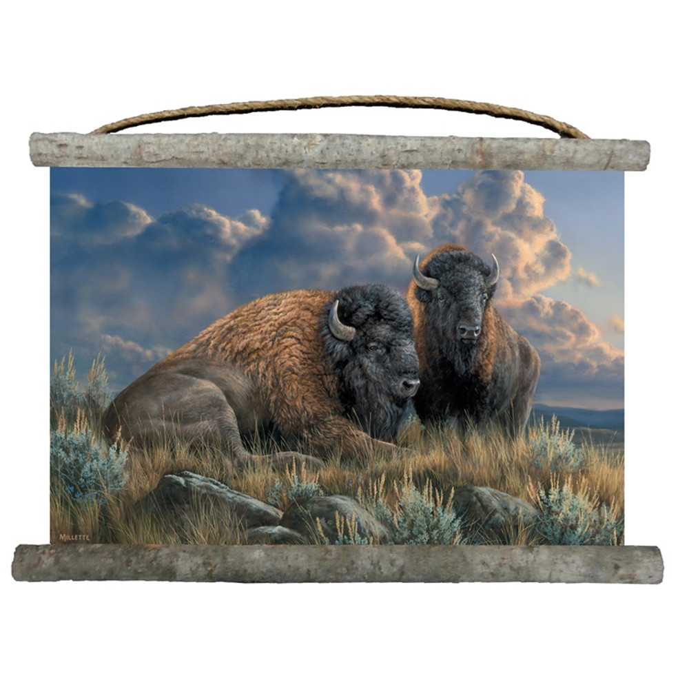 "Buffalo Canvas Wall Hanging ""Distant Thunder"" 
