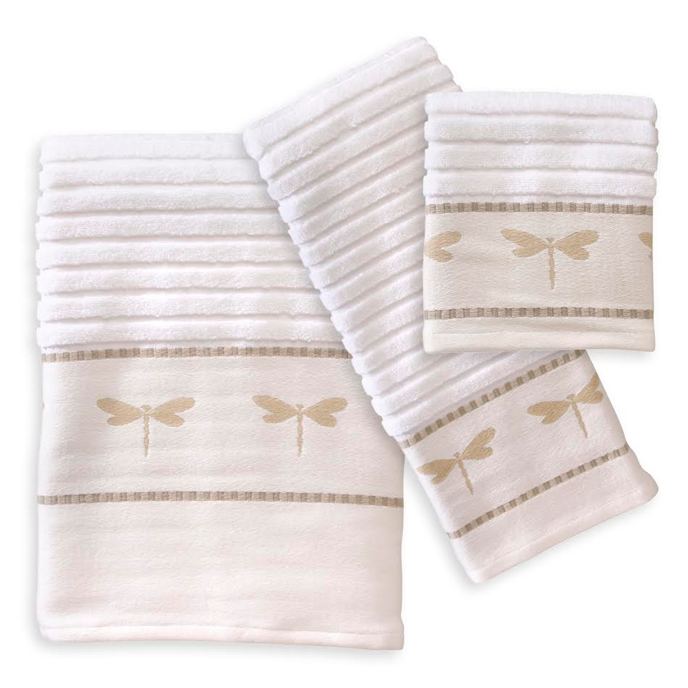 Dragonfly Towel Set | Creative Bath | CBTJ754BHW