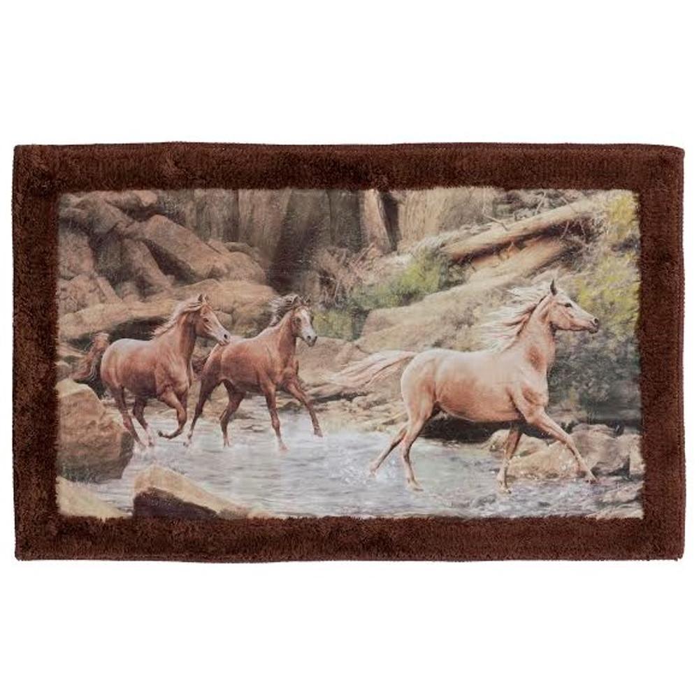 Horse Canyon Bath Rug | R1093MULT | Creative Bath