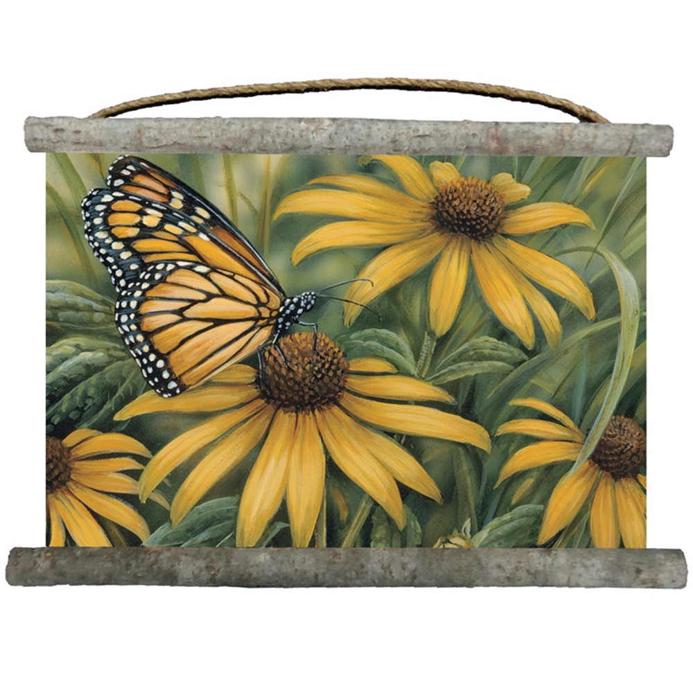 Monarch Butterfly Canvas Wall Hanging | Wood Graphixs | WCMB2518