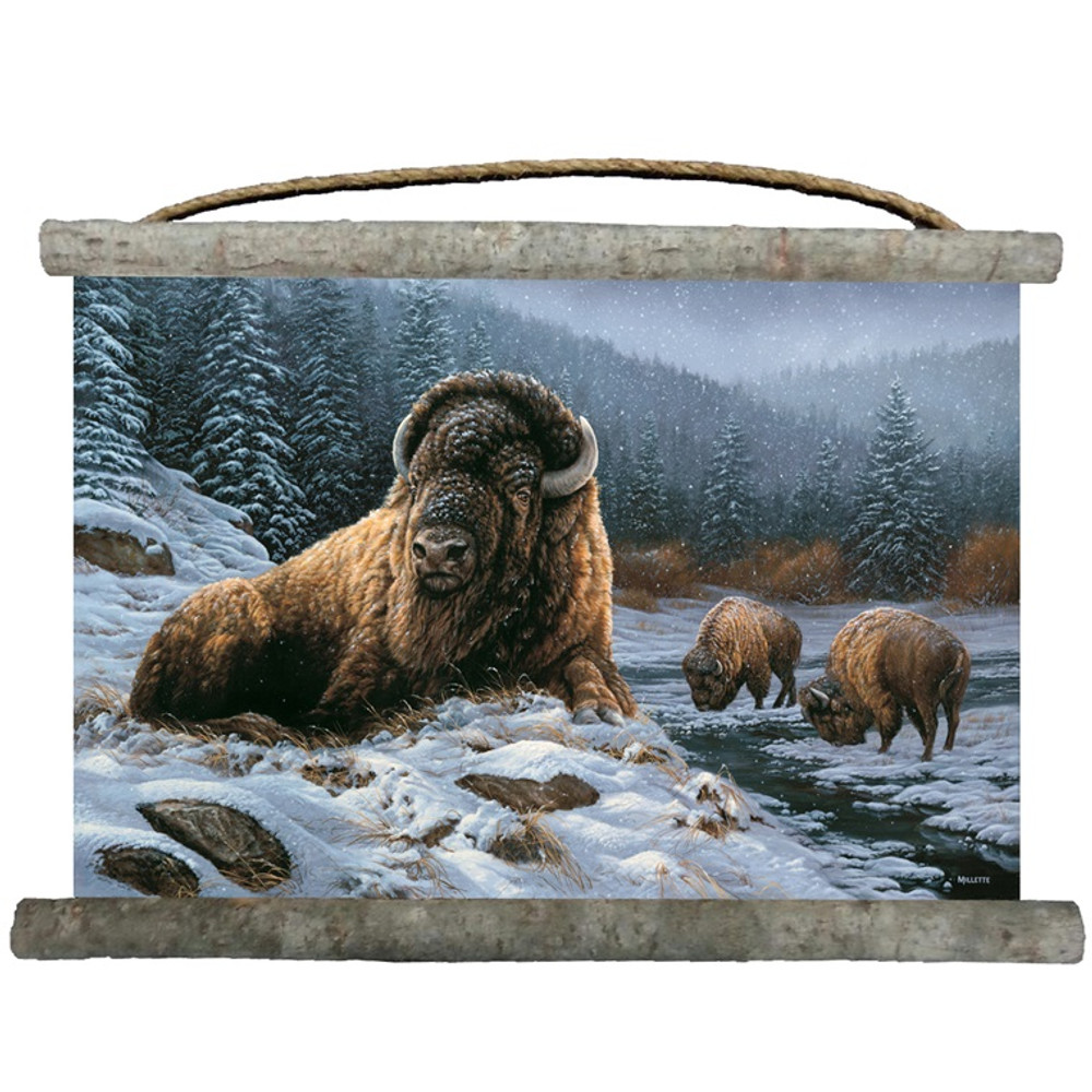 "Buffalo Canvas Wall Hanging ""Spirit of the Wild"" 
